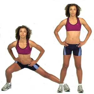 side lunges for knock knees