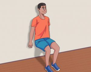 wall squates for knock knees