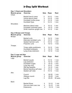 3 day workout split for beginners