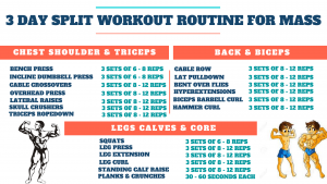 3 day split workout routine for mass
