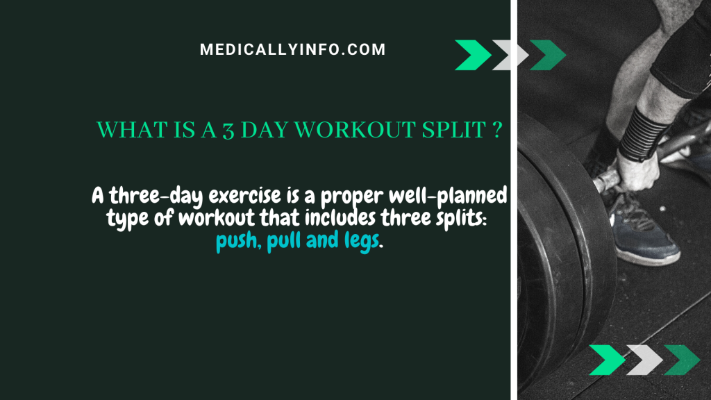 what is a 3 day workout split